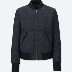 Uniqlo Women's MA-1 Bomber Jacket, Black XS